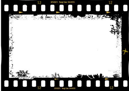 Ilustración de frame of film, grungy photo frame,with free copy space,vector illustration - Imagen libre de derechos