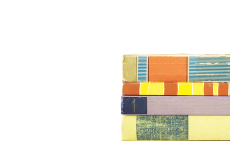 Foto de stack of books, isolated on white background, free copy space - Imagen libre de derechos
