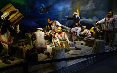 Foto de Qing Dynasty naval battle at museum - Imagen libre de derechos