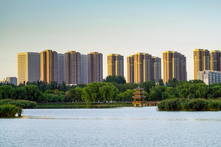Foto de Yinchuan City Building - Imagen libre de derechos