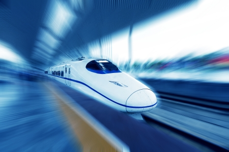 Photo for High-speed train in motion - Royalty Free Image
