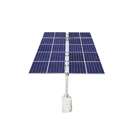 Photo pour Isolated solar panels on a white background - image libre de droit