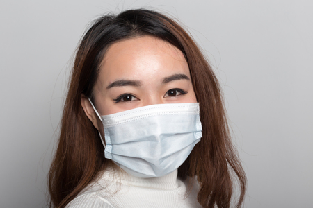 Photo for  Chinese women with masks - Royalty Free Image