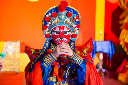 Photo for china opera man with red face - Royalty Free Image