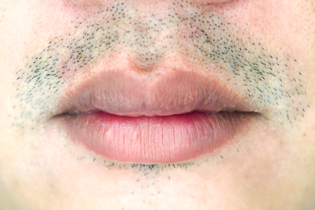 Photo for Male mouth closeup - Royalty Free Image