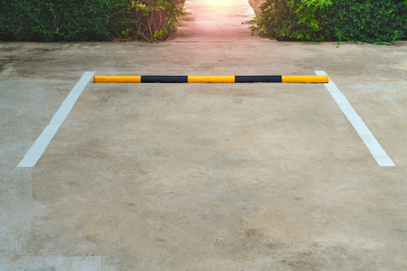 Photo for Lines parking on concrete background - Royalty Free Image