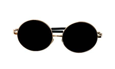 Photo pour closeup golden sunglasses  isolated on white background - image libre de droit
