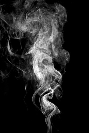 Foto de Abstract white smoke on black background. - Imagen libre de derechos