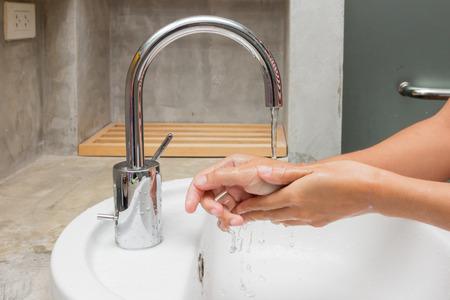 Photo pour Hygiene. Cleaning Hands. Washing hands. - image libre de droit
