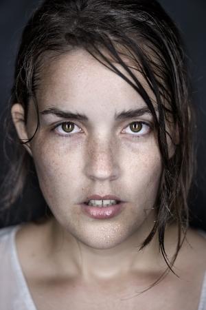 woman portrait fine art wet face conceptual headshot