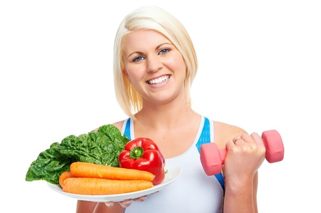 Photo for diet and exercise woman healthy lifestyle concept - Royalty Free Image