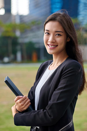 Photo for professional asian chinese business woman portrait outdoors - Royalty Free Image