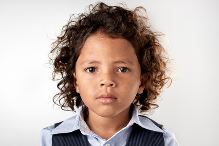 Photo for portrait of young mixed race child - Royalty Free Image