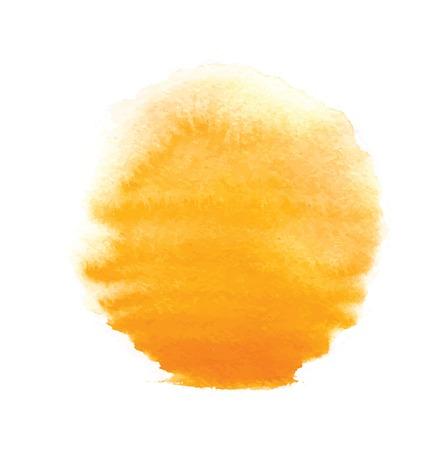 Ilustración de watercolor sun, vector illustration, isolated on white background - Imagen libre de derechos
