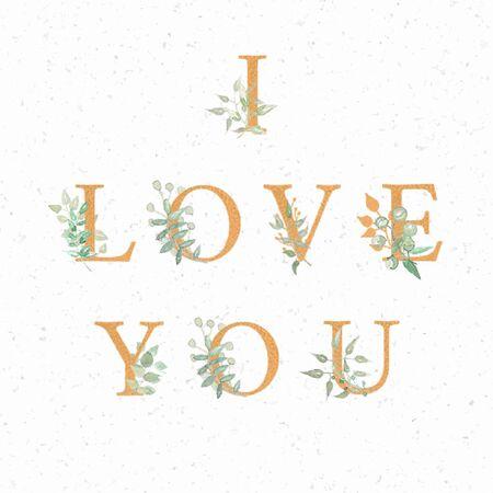 Ilustración de I love you background - Imagen libre de derechos
