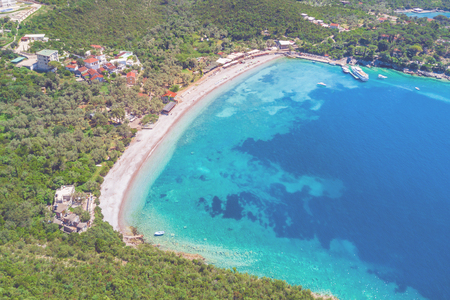 Foto de View from the height of the old resort town near the sea - Imagen libre de derechos