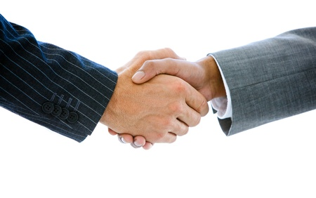 Close-up of a business people shaking hands