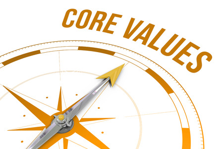 Photo for The word core values against compass - Royalty Free Image