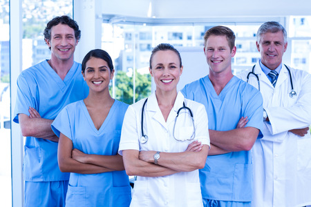 Photo for Medical team smiling at camera together at the hospital - Royalty Free Image