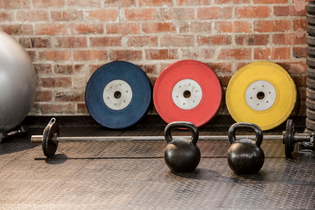 Photo for Exercising equipment arranged at the gym - Royalty Free Image
