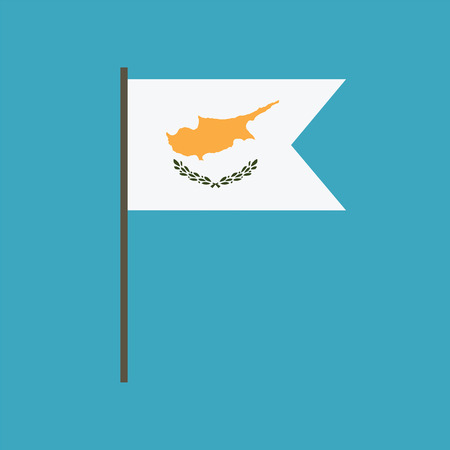 Illustration pour Cyprus flag icon in flat design. Independence day or National day holiday concept. - image libre de droit