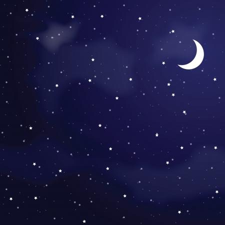 Ilustración de Vector illustration of night sky  - Imagen libre de derechos