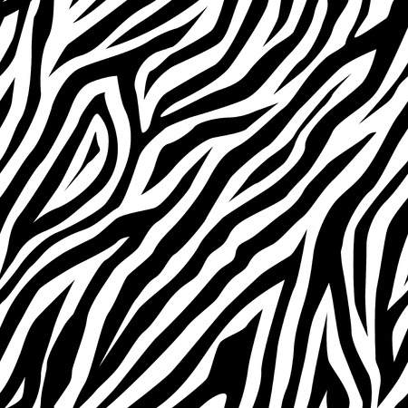 Illustration pour Zebra pattern as a background, vector illustration - image libre de droit