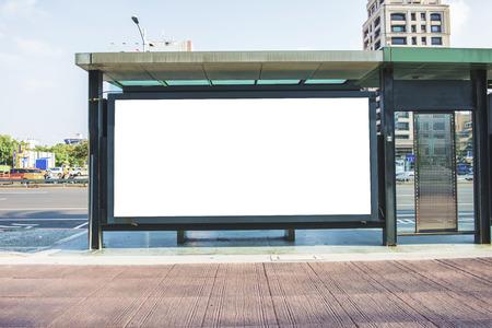 Foto de blank billboard on the city street - Imagen libre de derechos