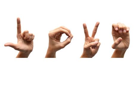 Foto de Love american sign language - Imagen libre de derechos