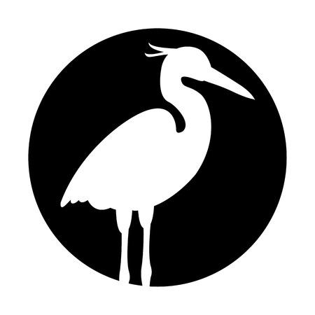 Illustration pour Heron vector illustration black silhouette - image libre de droit
