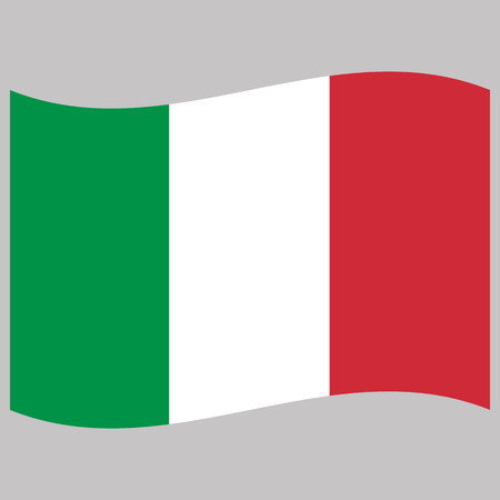 Illustration pour italy  flag  on gray background vector illustration flat - image libre de droit