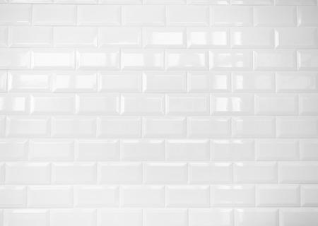 Photo pour white ceramic brick tile wall,clean  - image libre de droit