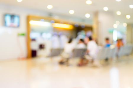 Foto de Blurred patient waiting in hospital - Imagen libre de derechos