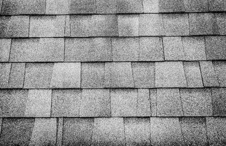 Foto de Black and white photo,close up roof tile texture background. - Imagen libre de derechos