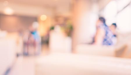 Foto de Blurred patient waiting for see doctor,abstract background. - Imagen libre de derechos