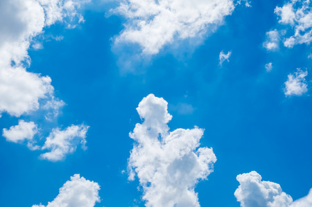 Photo for Looking up at Blue sky with cloudy. - Royalty Free Image