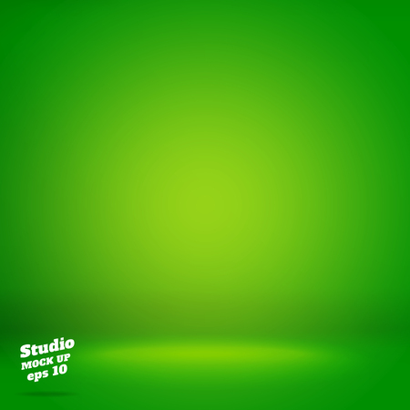 Illustration pour Vector,Empty vivid lighting green studio room background ,Template mock up for display or montage of product,Business backdrop. - image libre de droit