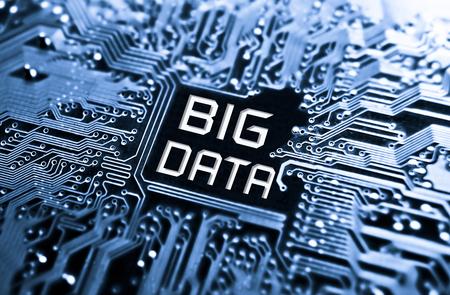 Foto de Data concept  circuit board with word Big Data - Imagen libre de derechos