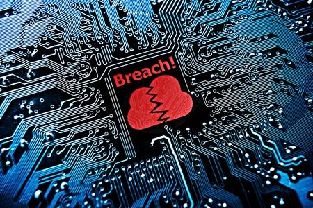 Foto de cloud system breach - Imagen libre de derechos