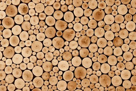Photo pour round teak wood stump texture - image libre de droit
