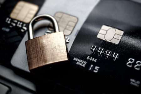 Foto für credit card data encryption security - Lizenzfreies Bild