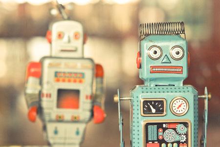 Foto de old classic robot toys - Imagen libre de derechos