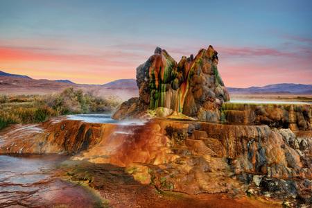 Photo pour Fly Gyser Nevada - image libre de droit