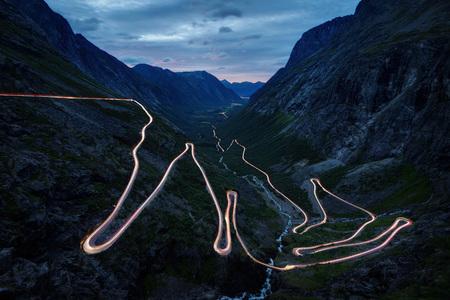 Photo pour Trollstigen Norway taken in 2017 - image libre de droit