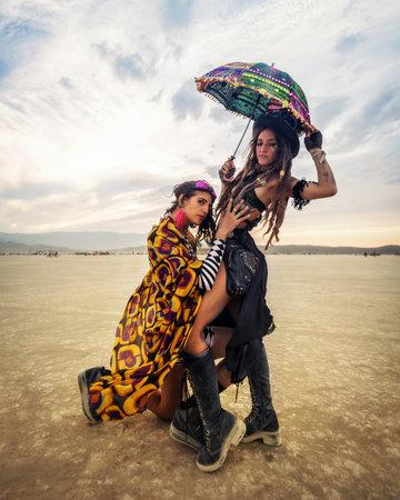 Photo for Black Rock Desert, USA - 2nd of September 2016: Burning Man taken in 2015 - Royalty Free Image