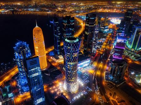 Photo for Doha Skyline at Night, Qatar taken in 2015 - Royalty Free Image
