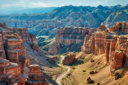 Foto de Charyn Canyon in South East Kazakhstan - Imagen libre de derechos