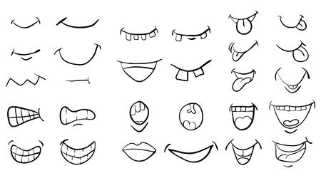 Illustrazione per cartoon mouth set vector symbol icon design. Beautiful illustration isolated on white background - Immagini Royalty Free