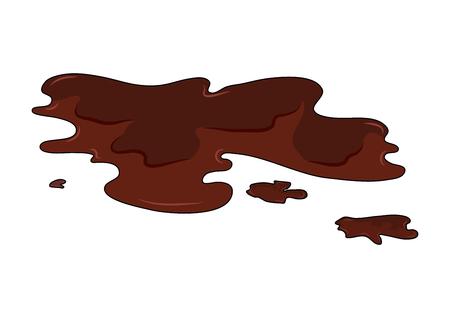 Ilustración de Mud puddle simple vector design isolated on white - Imagen libre de derechos