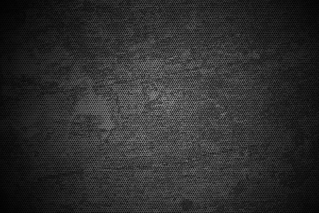 Black Meshy Grunge Metal Texture - Grunge Metal Background. Corroded Black and White.